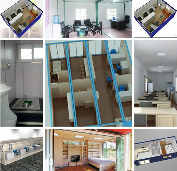 China Prefabricated Steel Structure Prefab Building Container Kits Homes