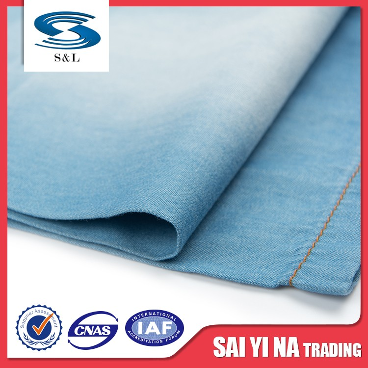 Good quality 100% cotton denim fabric for men jeans fastest delivery