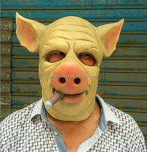 Creepy Full Face Head Pig Rubber Animal Mask Latex Party Animal Kids Halloween Masquerade Party Mask