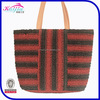Designer fashion bags wholesale custom lady fancy straw tote handbag