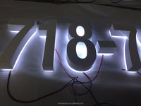 Custom metal signs led backlit signs metal letters and numbers