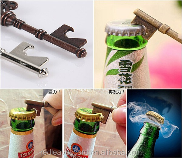 new arrive 2016 Wedding Favors Personalized Vintage Skeleton Key Bottle Opener wine opener