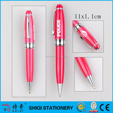Hevay metal roller pen , mini pink metal ball pen