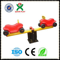 HOT SALE!!! Two-seats jeep style plastic seesaw for kids/metal seesaw QX-11084H