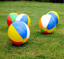 Facctory price customized Rainbow PVC toy balls beach balls children promotional inflatable pvc ball