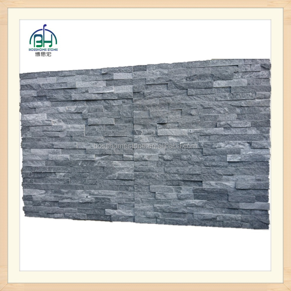 Modern blue and grey color slate natural split Culture stone for wall caldding
