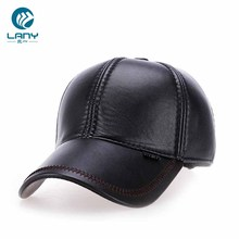wholesale custom cheap leather bill baseball cap fur ear flap fishing <strong>hat</strong>