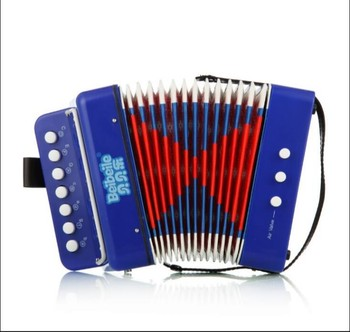 7 key 2 bass Antique button Accordion musical instrument for children for sale