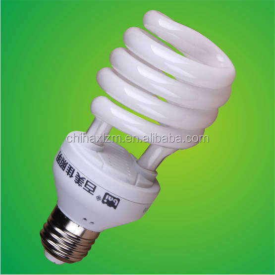 2015 new design 20W half spiral cfl compact fluorescent light/energy saving lamp/energy saving bulb