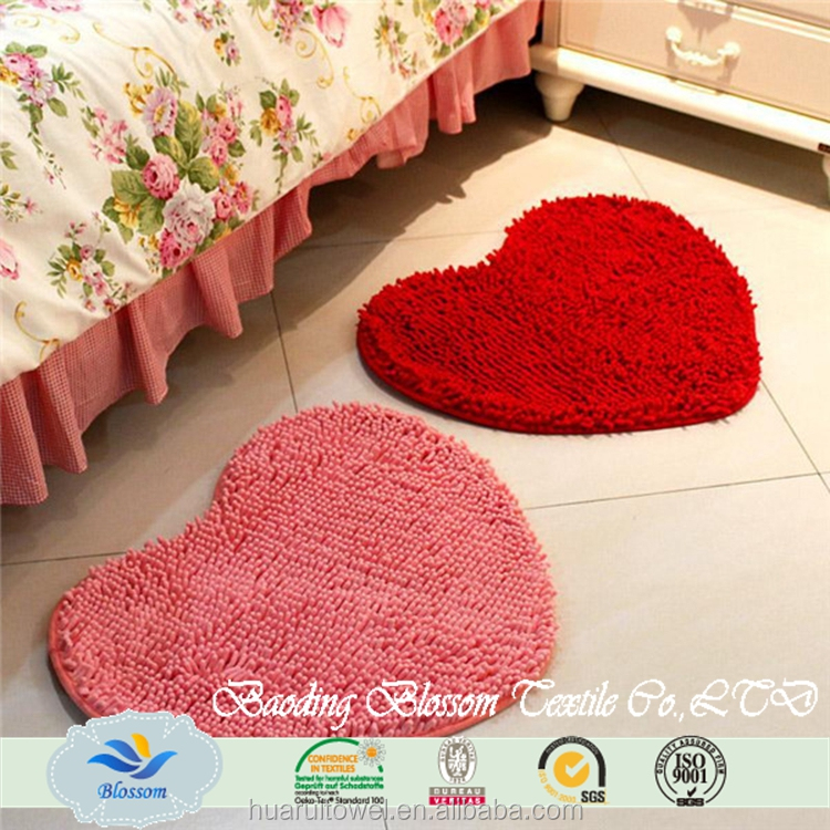 washable absorbent soft chenille fabric floor mat
