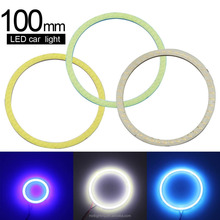 Promotion 2PCS COB Angel Eyes 100mm LED daytime driving lights LED Super Bright car light car COB led lamps 12v
