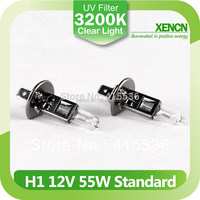 Auto lamp clear light H1 P14.5s 12V 55W 3200K halogen headlight bulb