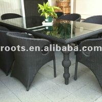 Rattan Garden Dining Furniture From Factory