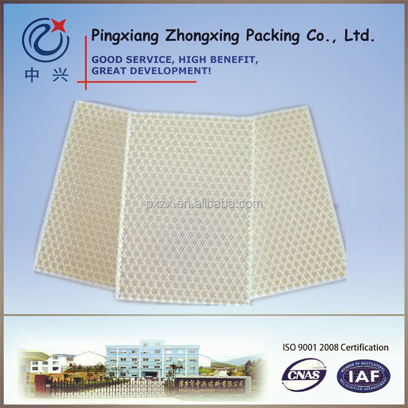 cordierite ceramic honeycomb plate for gas burner