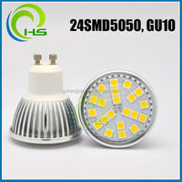 High Quality led HOT 24SMD 5050 GU10 LED SPOTLIGHT RA80 CE ROHS 3014/3528/5050/5730 5730/5630 led corn light bulb 8w