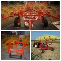 Factory supply reliable quality wheel hay rake/tractor rake by compact tractors for sale