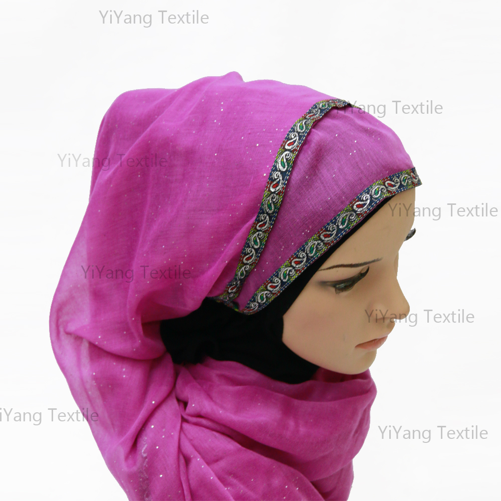 Wholesale New Style Crystal Plain Hijabs Cotton Viscose Scarf Shawl