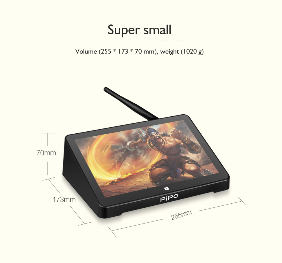 PIPO X12 Mini PC - 10.8 Inch 1920*1280 4gb 64gb 10000mAh Battery Mini PC Tablet