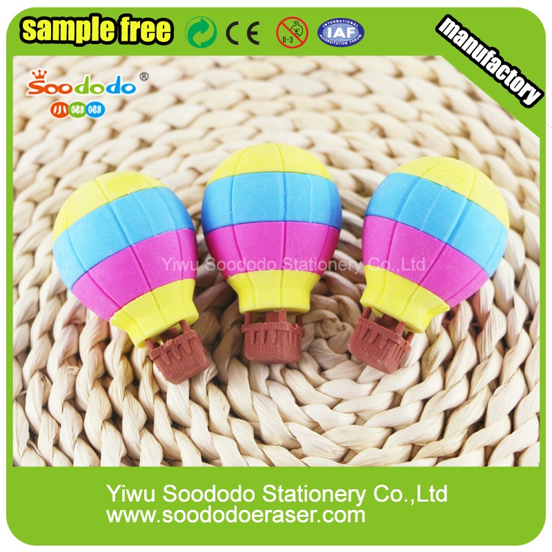 Fancy Cute Cool Fire Balloon Shaped 3D Erasers For Children