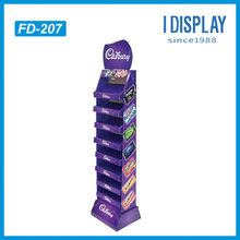Retail Cardboard Floor Display For Candy Promotion In Supermarket