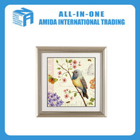 Animal print oil painting murals, flowers and birds pattern adornment painting