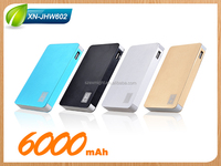 New slim power bank 6000 8000 10000mAh charging station for mobile phone and all 5V device
