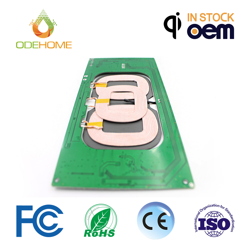 2017 Qi wireless charging pcb circuit boards three coil electronic products and conponents wireless power bank pcb