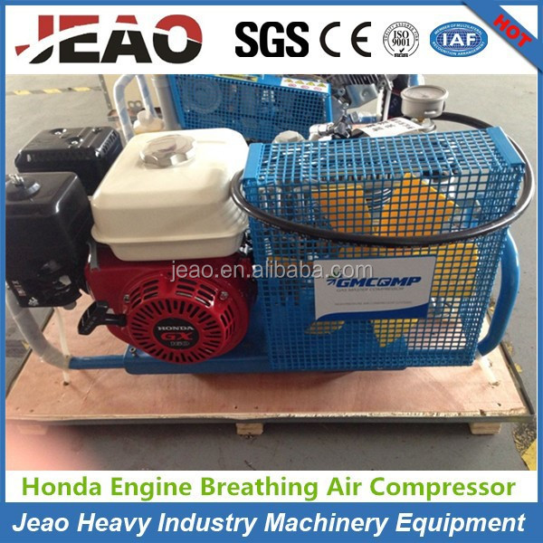 High Pressure 4 Stage Reciprocating Air Compressor 300bar With Gasoline Engine Driven