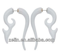 Wholesale Factory UV Acrylic Solid Vine Earring Swirl Ear Expander Stretcher Gauge Spiral Taper Fake Cheater Plugs