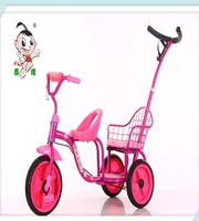 pretty baby tricycle toy for twins with handlebar withbest quality for1-6 years old