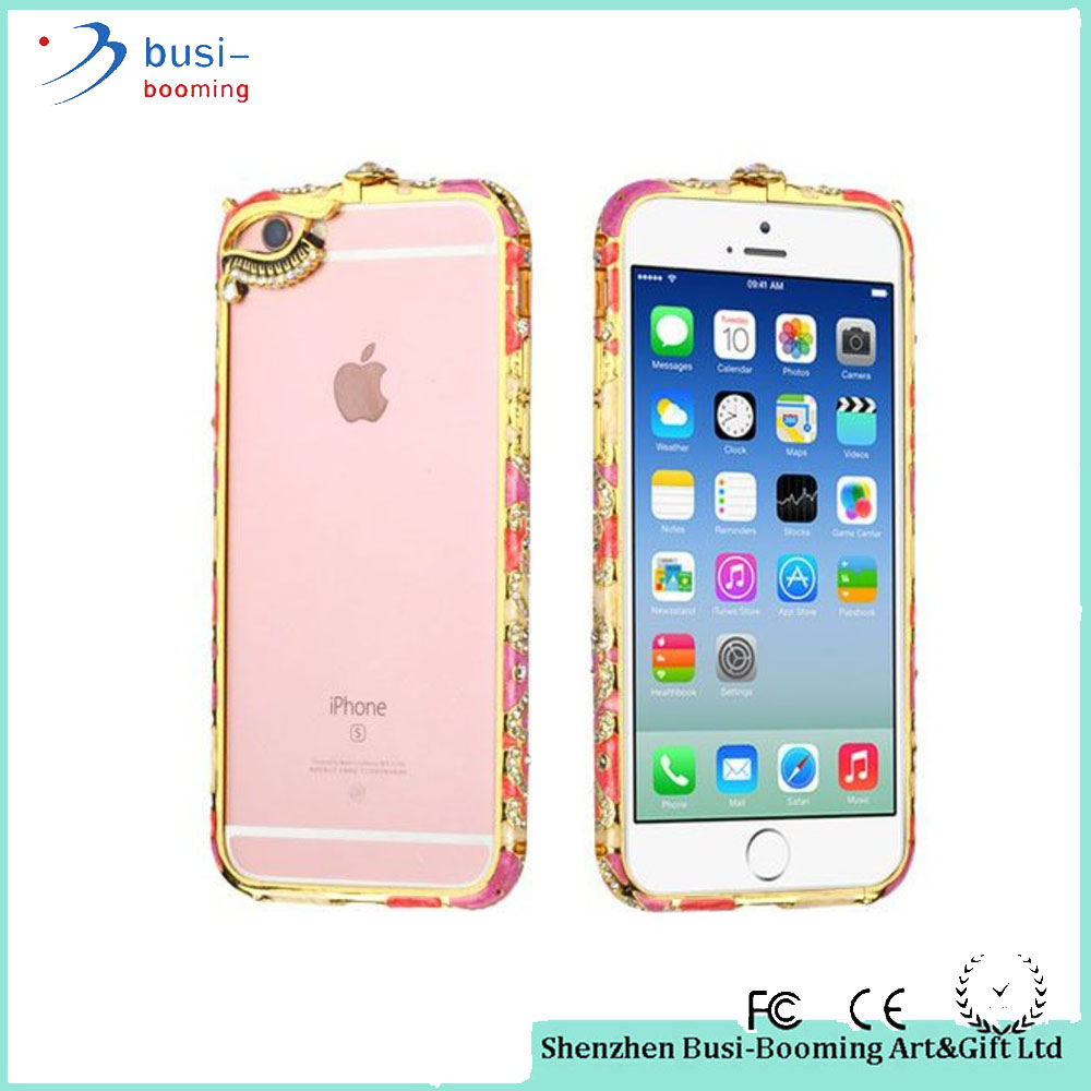 Newest Product Luxury Bling Rhinestone Bumper Metal Frame Diamond Case For Phone For Iphone For Girls
