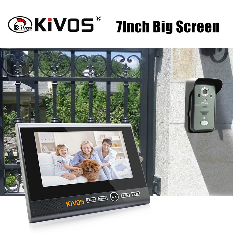 KIVOS wireless remote unlock design video door phone intercom