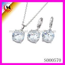 2014 ARTIFICIAL STONE JEWELRY,JEWELRY SETTINGS AND MOUNTINGS STERLING SILVER,INDIAN CUBIC ZIRCONIA JEWELRY NECKLACE SET