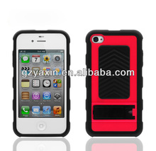 Tread tyre kickstand design mass production case for iphone 4