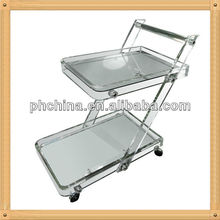 An-b635 modern design factory sell tray trolley/food tray with wheels/tray tables with wheels