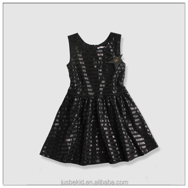 Fashion Princess Dress For Children Without Sleeve Sequin Girls Party Dresses