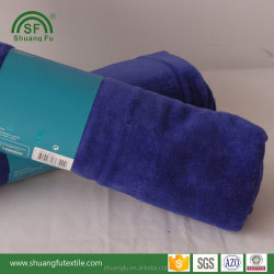 Factory direct OEM suppply 75*150cm 100% cotton blue bath wrap towel