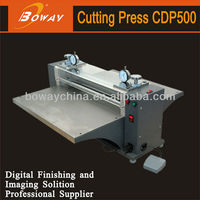 High-accuracy steel rod Pedal control One-way or two-way operation Automatic Non manual paper die cutting and creasing machine