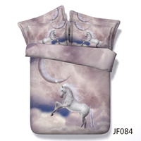 Magical Unicorn and Moon childrens 3d HD digital bed set