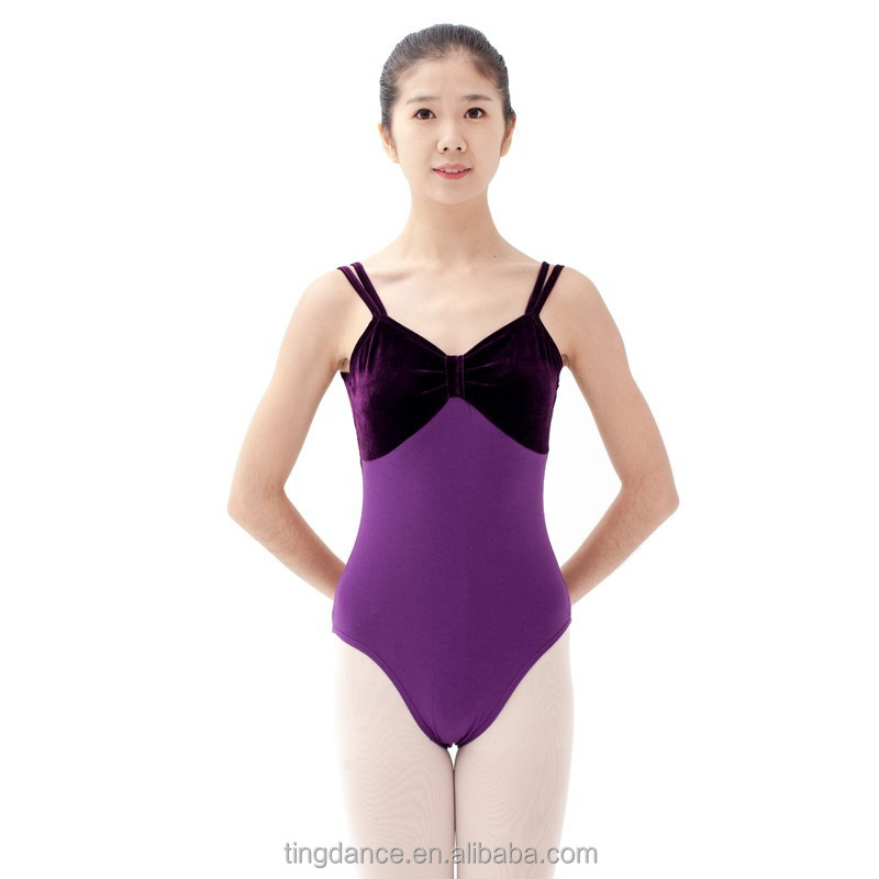 2015 double straps high back adult sexy ballet leotard for women