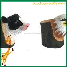 wooden carven teacher's day gifts farm animal pen holder