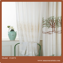 Elegant style wedding embroidered sheer voile curtain all kinds of steamer for sheer voile curtains wedding