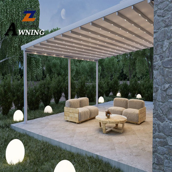 Reliable and Cheap aluminium pergola awning arch system electric retractable supplier