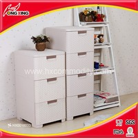 Dry clothing storage 4 drawer plastic baby key cupboard