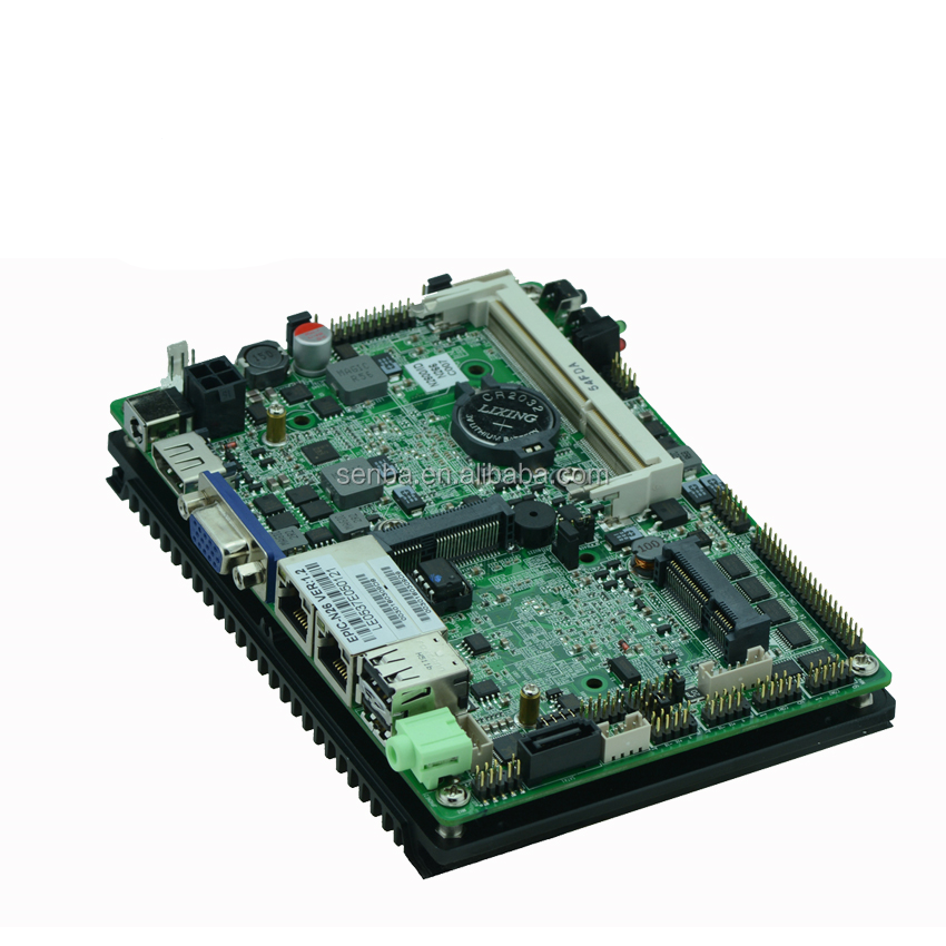 factory price fanless atom n2800 x86 single board computers sbc with wifi 6*usb2.0