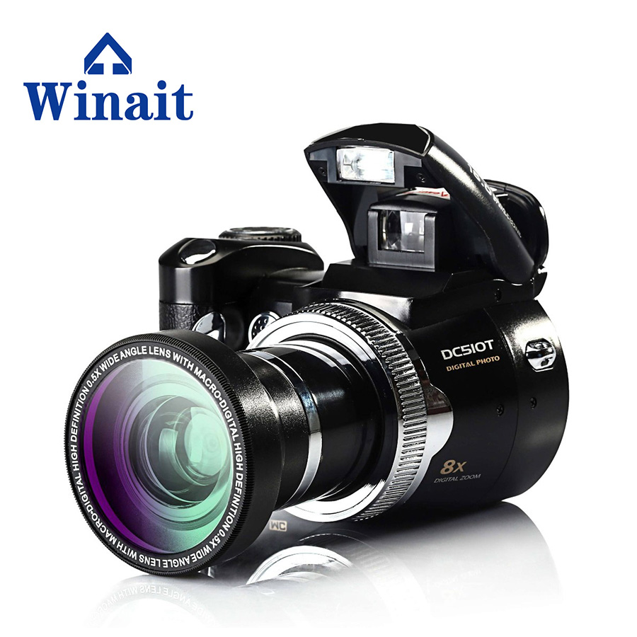 16MP slr digital camera with 2.4'' TFT display and 8x digital zoom digital video camera