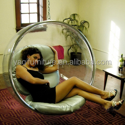 Excellent quality clear acrylic swing hanging bubble chair