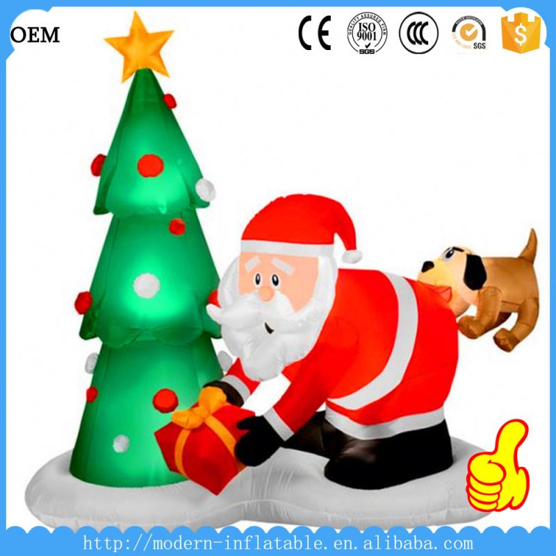 christmas snowman inflatable lighted santa claus outdoor christmas decorations giant inflatable christmas cartoon