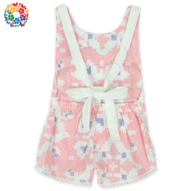 Wholesale Cotton Boutique Boho Playsuit Newborn Romper Girls Backless Bodysuit Summer Floral Jumpsuit