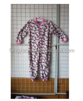 kids Winter Super Soft Bunny Print Hooded Onesie Nightwear For children